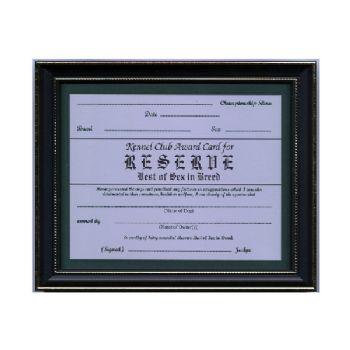 Reserve Best of Sex Certificate Frame